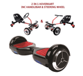 UNLEASH THE RACER IN YOU!! -- Racer Steering Wheel Hoverkart + Hoverboard Bundle - Black - Segwayfun