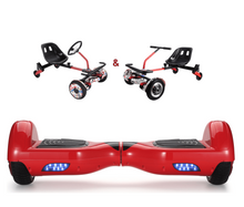 Load image into Gallery viewer, UNLEASH THE RACER IN YOU!! -- Racer Steering Wheel Hoverkart + Hoverboard Bundle - Red - Segwayfun