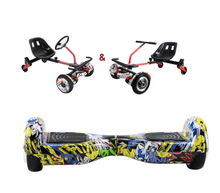 Load image into Gallery viewer, UNLEASH THE RACER IN YOU!! -- Racer Steering Wheel Hoverkart + Hoverboard Bundle - Comic - Segwayfun