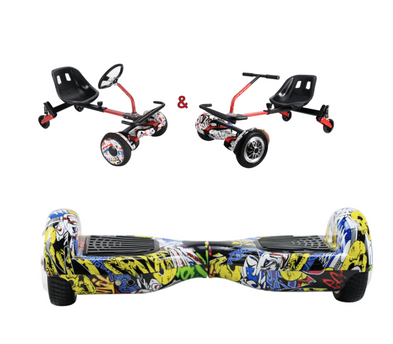 UNLEASH THE RACER IN YOU!! -- Racer Steering Wheel Hoverkart + Hoverboard Bundle - Comic - Segwayfun
