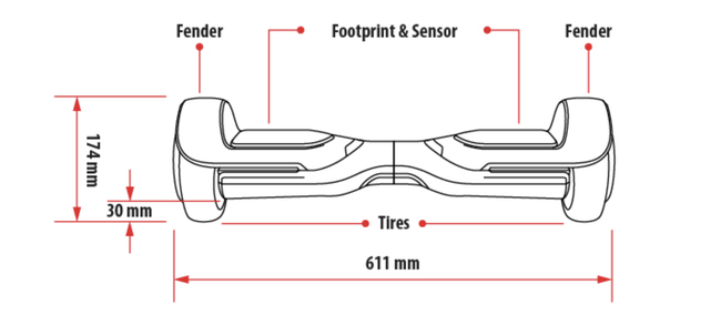 Swift - The Only Fireproof 6.5 Hoverboard with UL Certified Shell