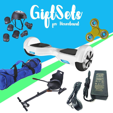 6.5White classic Hoverboard + Hoverkart Bundle - 30% sale Offer - Segwayfun