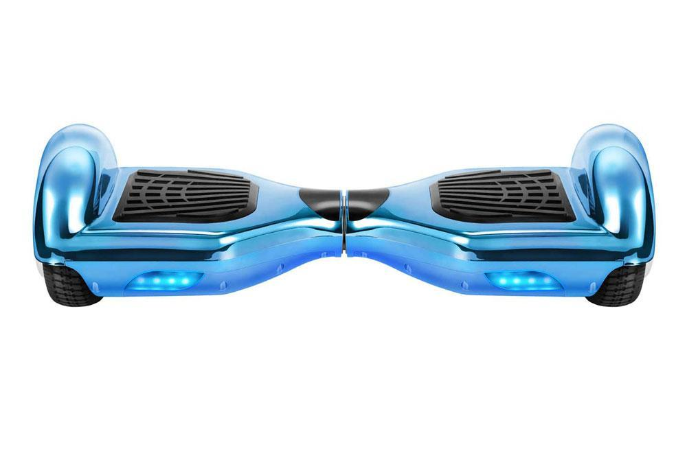 Chrome Blue Gold Limited Edition 6.5 Inch Swegway Hoverboard for Sale - Segwayfun