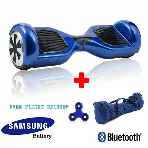 6.5 Inch Blue Bluetooth Classic UL Certified Self Balancing Hoverboard Segway for Sale with 1 Year Warranty + Fidget Spinner