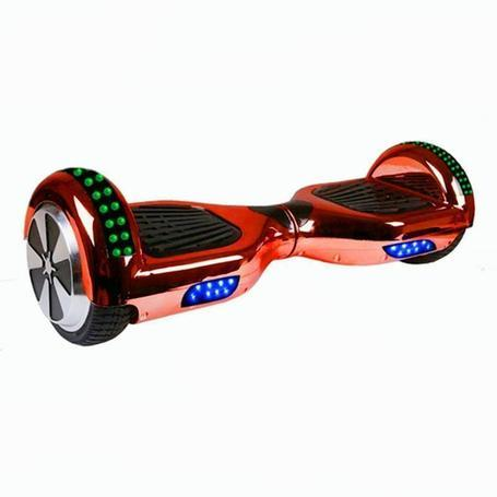 6.5  Chrome Red Disco App Hoverboard Led + Hoverkart Bundle - Segwayfun