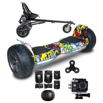 2018 Hummer Black Hoverboard ,Hoverkart Bundle with App Control - Segwayfun