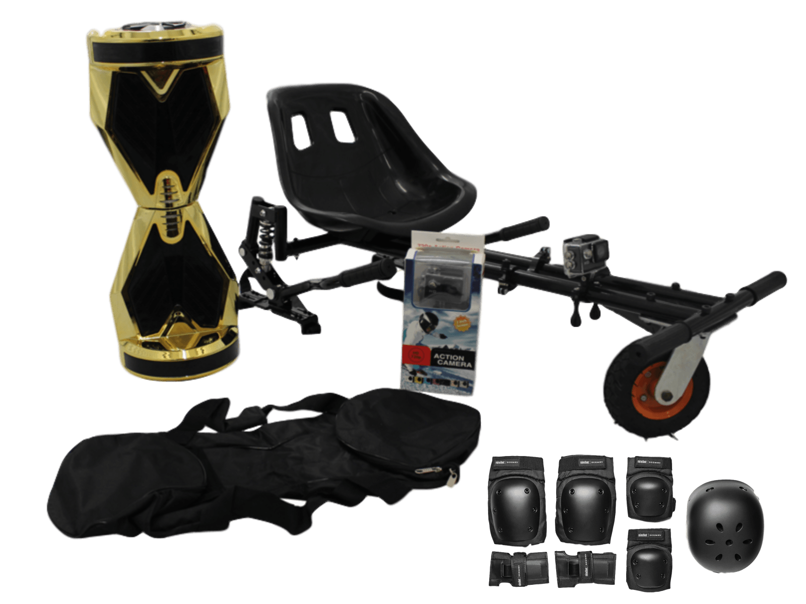 Gold Lambo Swegway HoverKart Xtreme Bundle ( GoPro  HD Camera Included)   Segwayfun