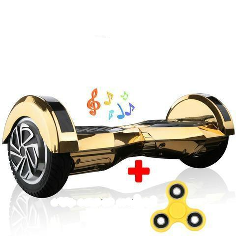 Chrome Golden Lamborghini 8 Inch Segway Board Argos for Sale with Bluetooth Speaker + Fidget Spinner