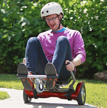 UNLEASH THE RACER IN YOU!! -- Racer Steering Wheel Hoverkart + Hoverboard Bundle - Red - Segwayfun