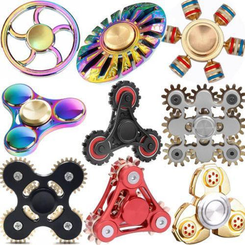 Metal Fidget Spinner - Must Have For EDC Stress Relief ADHD