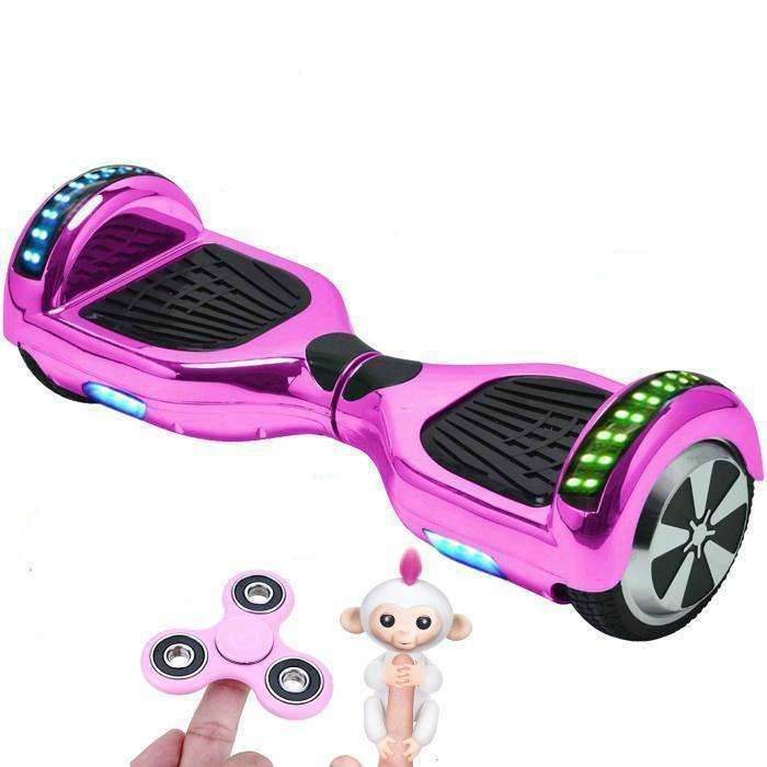 PINK Chrome Hoverboard Swegway for Sale with Bluetooth Speaker