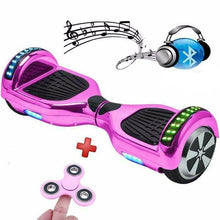 Load image into Gallery viewer, 6.5 Inch Chrome Pink Hoverboard Disco Bluetooth Swegway with Samsung Battery - Segwayfun