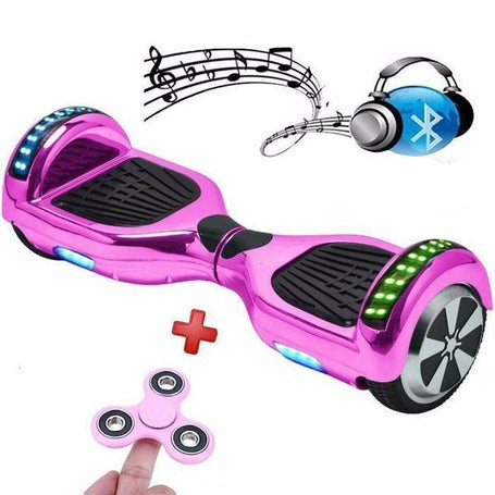 6.5 Inch Chrome Pink Hoverboard Disco Bluetooth Swegway with Samsung Battery - 30% Xmas Sale Offer - Segwayfun