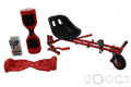 UL Certified Red Chrome Segway Buy HoverKart-X Bundle, hoverboard kart - Segwayfun