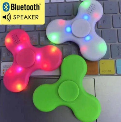 LatestFidget Spinner with Led & Bluetooth Speaker- Must Have For EDC Stress Relief ADHD FASTEST AND LONGER SPINNING - SWEGWAYFUN