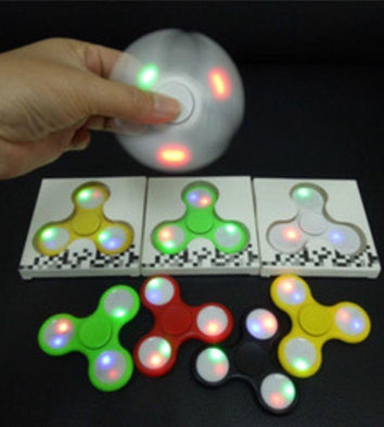 Led Disco Fidget Spinner - Must Have For EDC Stress Relief ADHD - SWEGWAYFUN