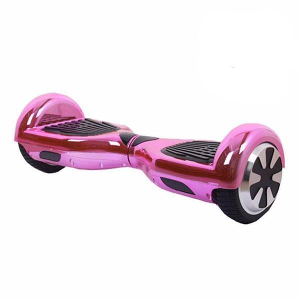 6.5 Inch Chrome Pink Hoverboard Disco Bluetooth Swegway with Samsung Battery - SWEGWAYFUN