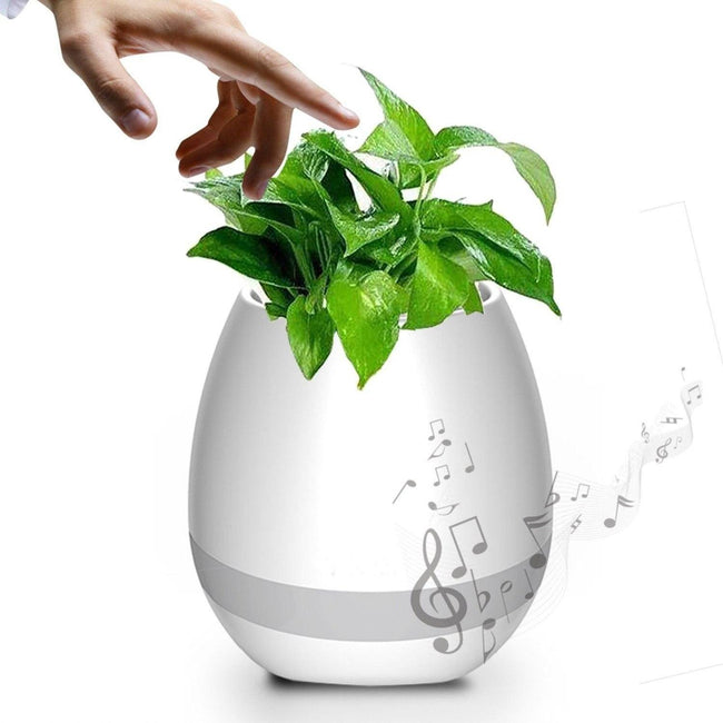 2019 Smart Flower Pot With  Bluetooth Speaker & Led Light - SWEGWAYFUN