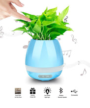 Intelligent Piano Flowerpot with Bluetooth Speaker & Led Light - Segwayfun