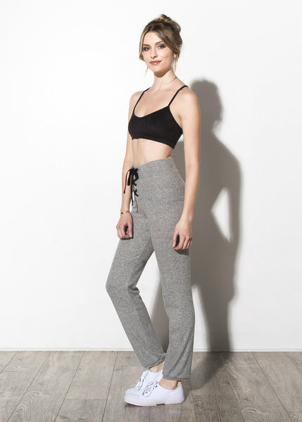 Supersoft Lace-Up Skinny Sweats