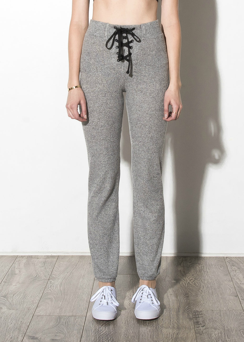 High Waist Lace Up Sweatpants