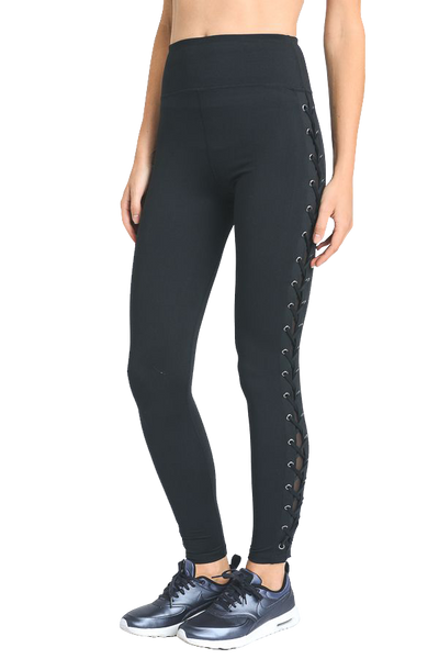 Lace Up Leggings