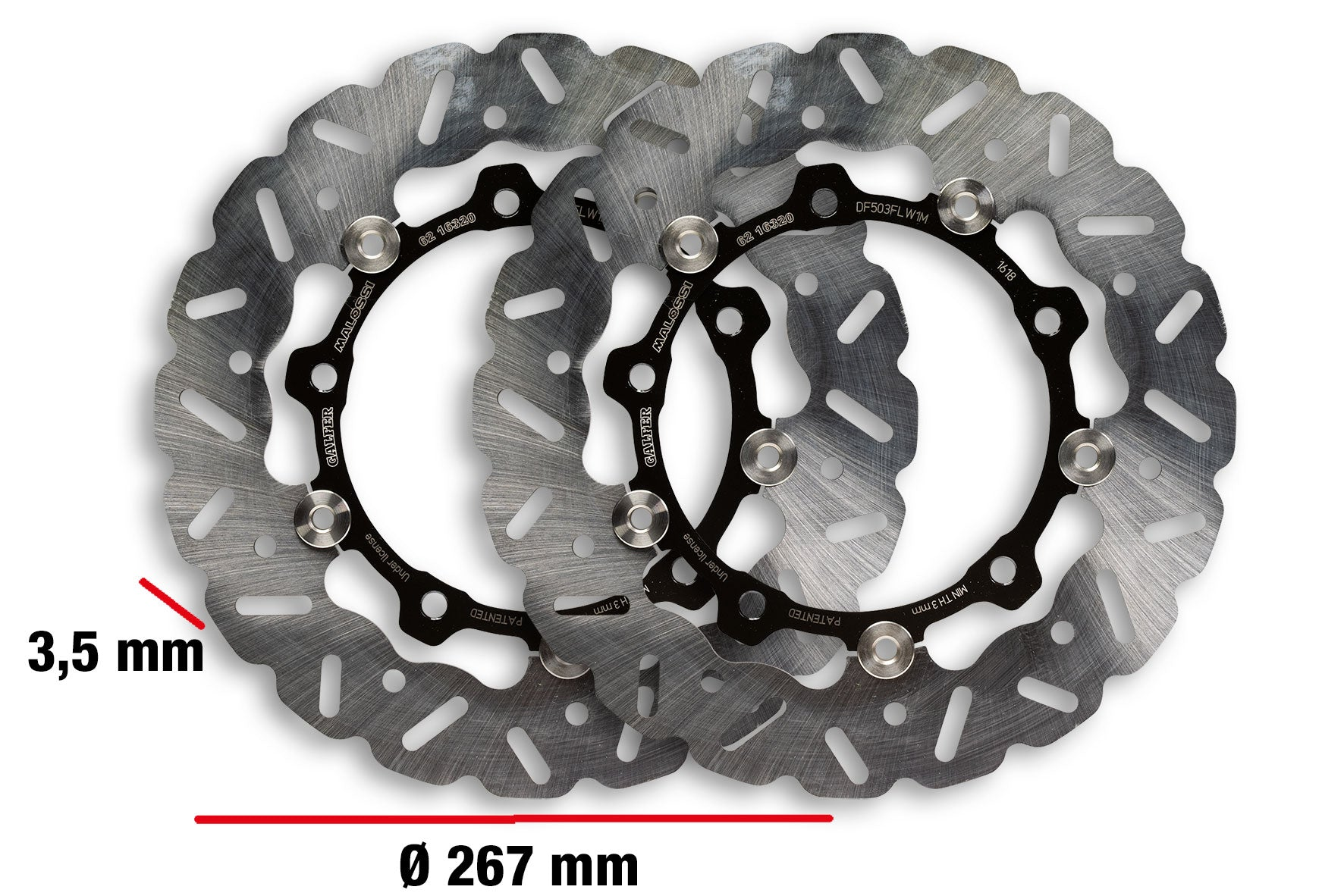 Malossi Front rotor kit for TMAX