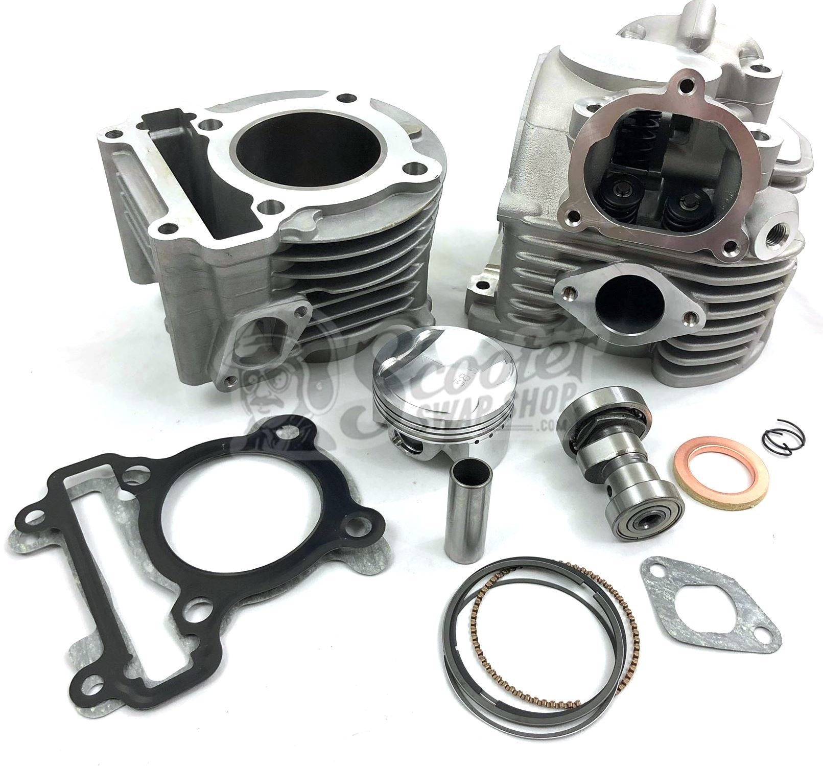 Zuma 125 big bore kit/cam/big valve head package 155CC