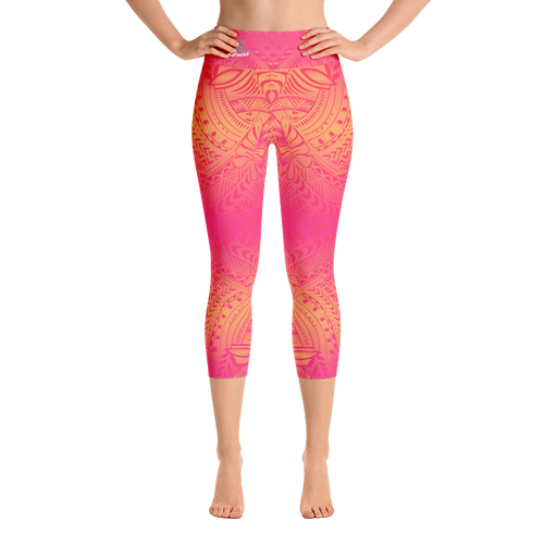 Customized Tribal Tattoo Capri Yoga Leggings | Hawaii | HamoPride
