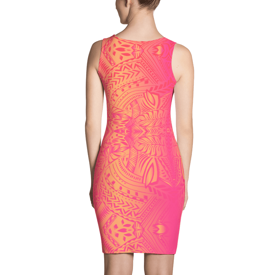 Sunset Tribal Tattoo Dress