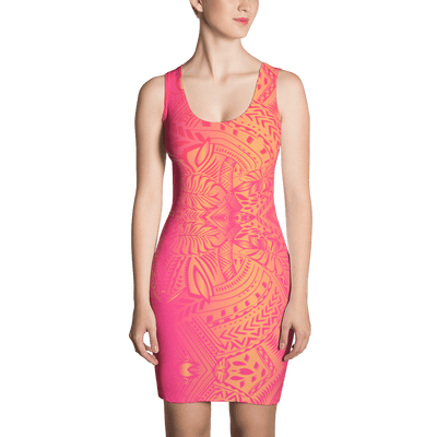 Sunset Tribal Tattoo Dress - HamoPride