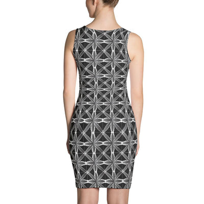 Hanalei Tribal Design Dress (Grey) - HamoPride