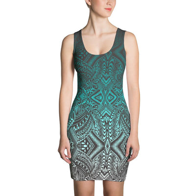 Hanau Tribal Tattoo Dress (Metallic) - HamoPride