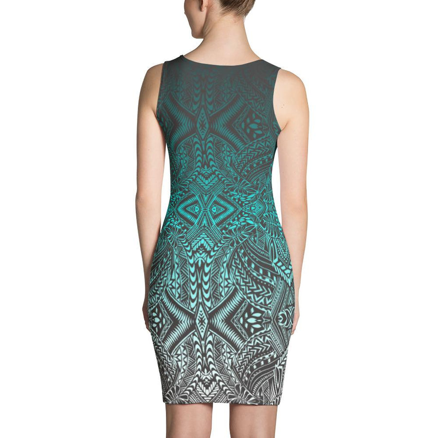 Hanau Tribal Tattoo Dress (Metallic)
