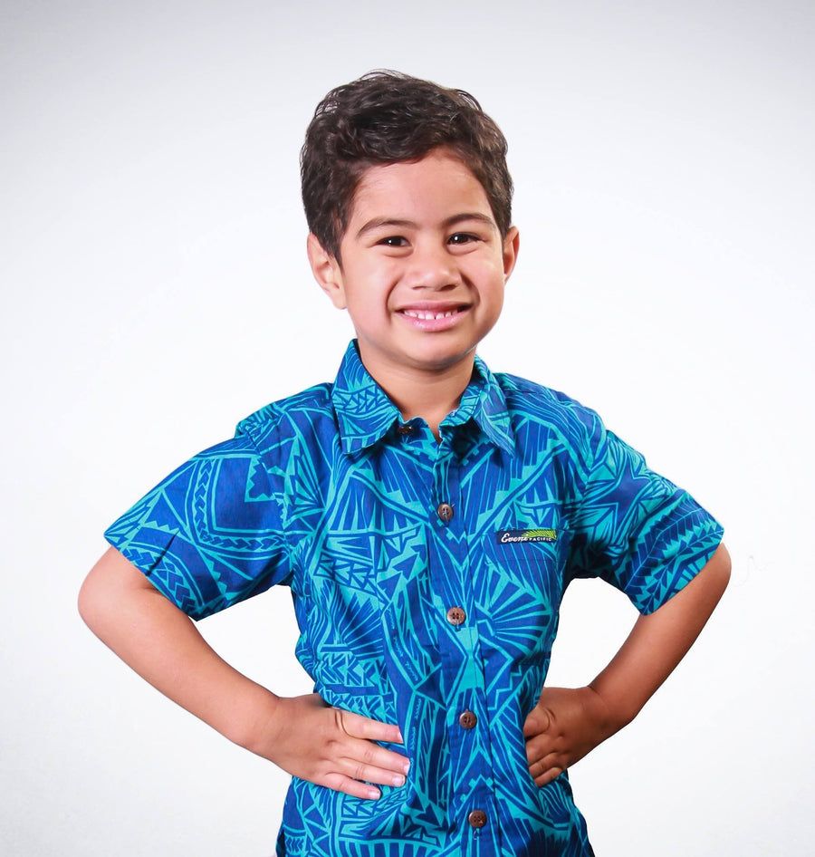 Kids Elei Shirt - Lisi Deep Blue - HamoPride