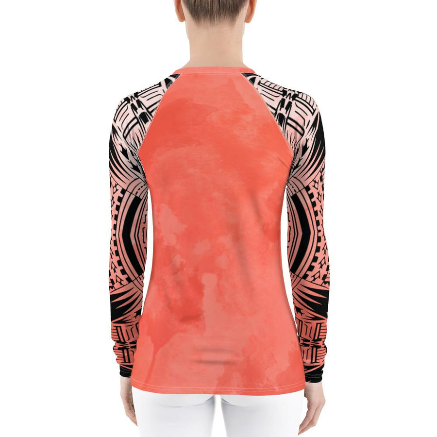 Coral Light Moana Tribal Women's Rash Guard
