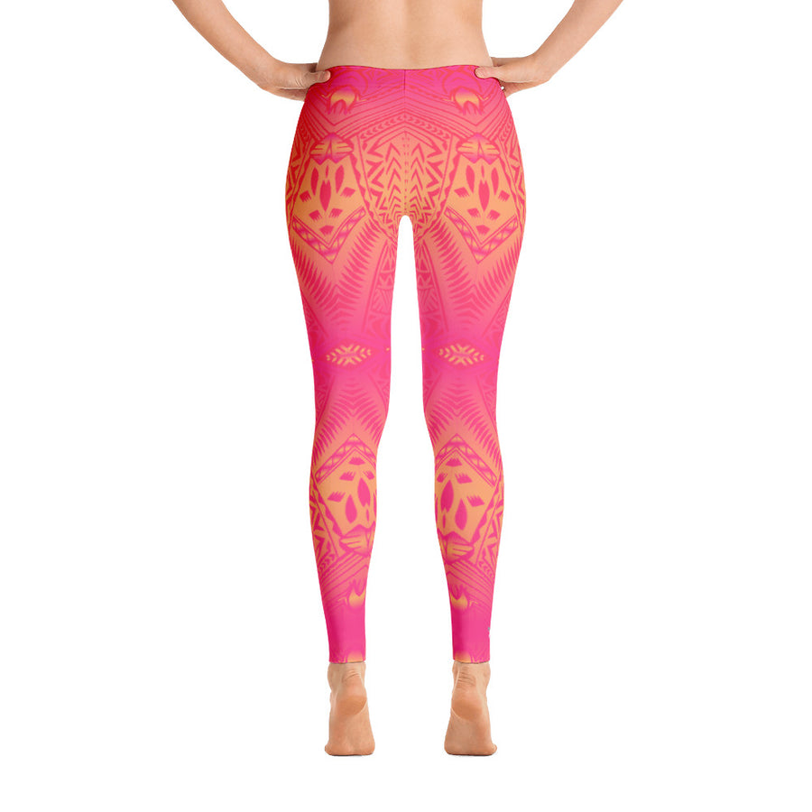 Sunset Tribal Tattoo Legging - HamoPride