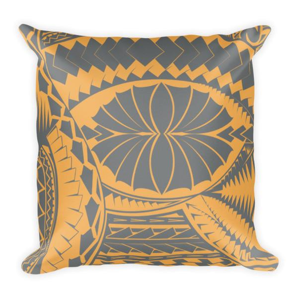 Tribal Matte Grey Pillow - Lite Yellow