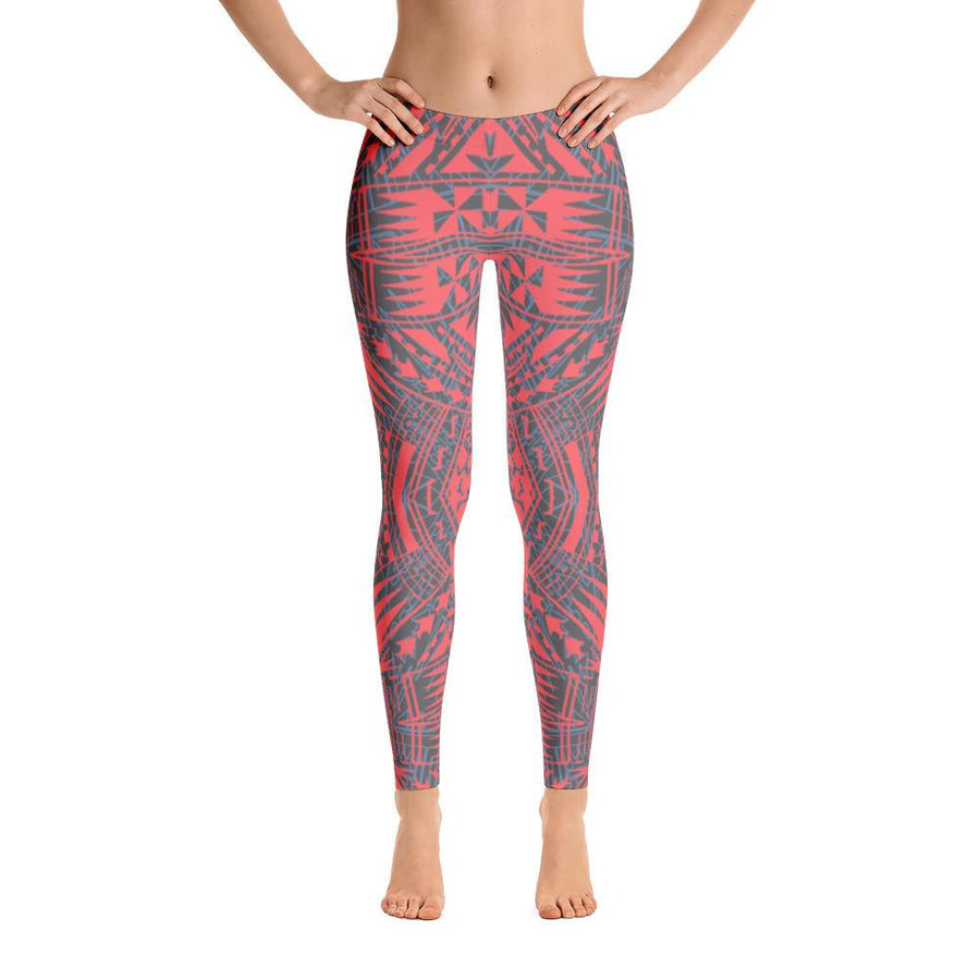 Tefiti Tribal Tattoo Legging (Off Pink) - HamoPride