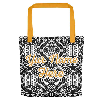 Maui Tribal Tote Bag - With Your Own Name - HamoPride