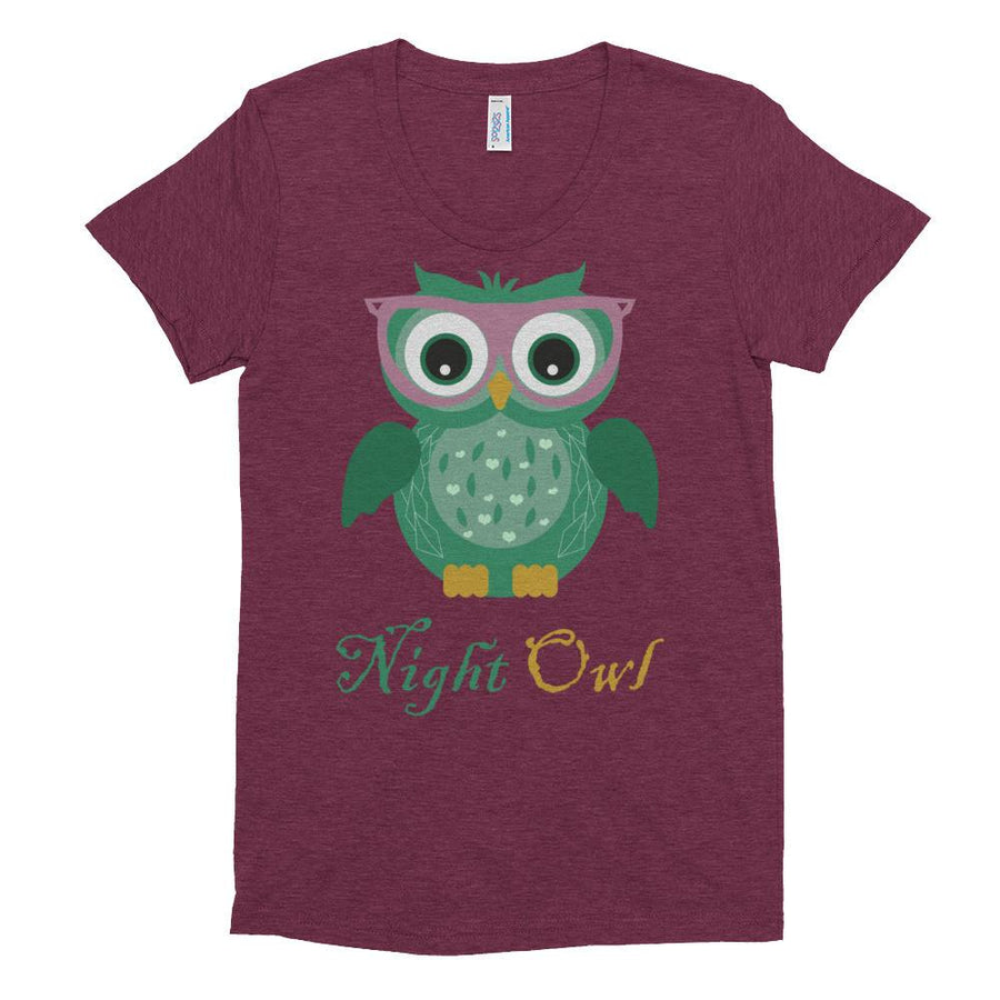 Night Owl Women's Tshirt Pink Glasses