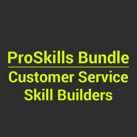 BUNDLE: Customer Service Skill Builders