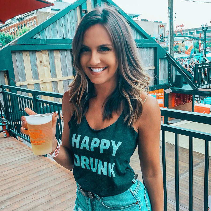 Happy Drunk Women's Tri-Blend Tank Top