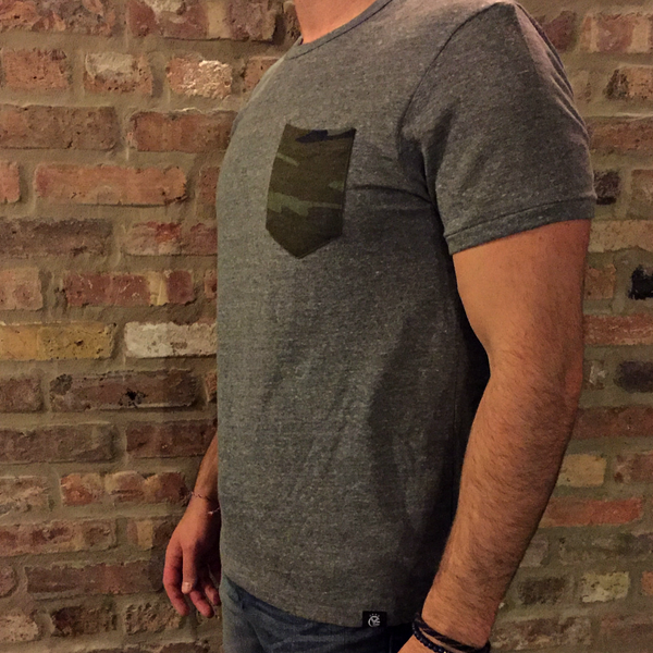 The Whiskey Riff Tri-Blend Men's Pocket Tee