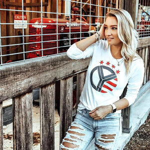 Women's Long Sleeve Whiskey Riff Logo Tee