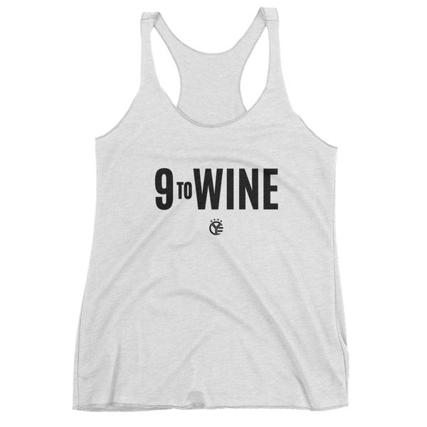 9 to WINE Women's Tri-Blend Tank Top