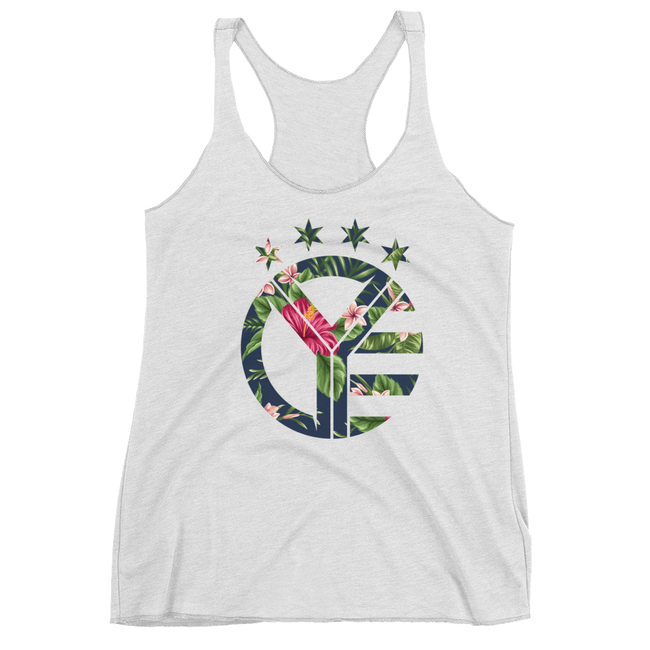 Floral Whiskey Riff Symbol Women's Tri-Blend Tank Top
