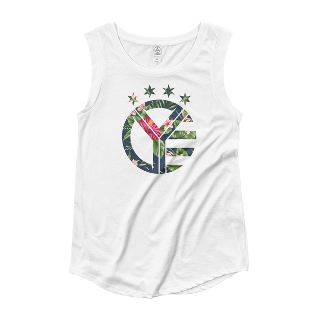 Floral Whiskey Riff Women's Cap Sleeve Tank Top