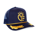 Whiskey Riff Oak Leaf Captain Rope Hat