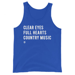 Clear Eyes, Full Hearts, Country Music Tank Top